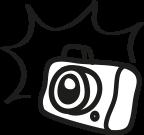 Kamera mit Blitz