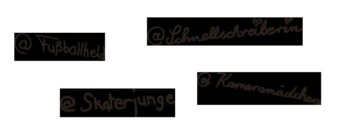 Unterschriften Bloggerbande