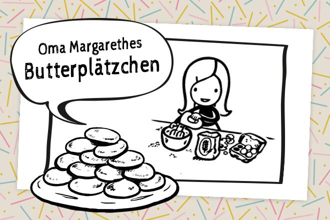 Rezept für Oma Margarethes Butterplätzchen